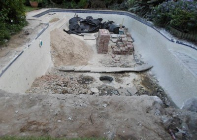 he original pool. The client wanted the shape altered, and the pool made smaller 2